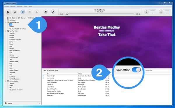 How do I save a playlist offline? - KaraFun